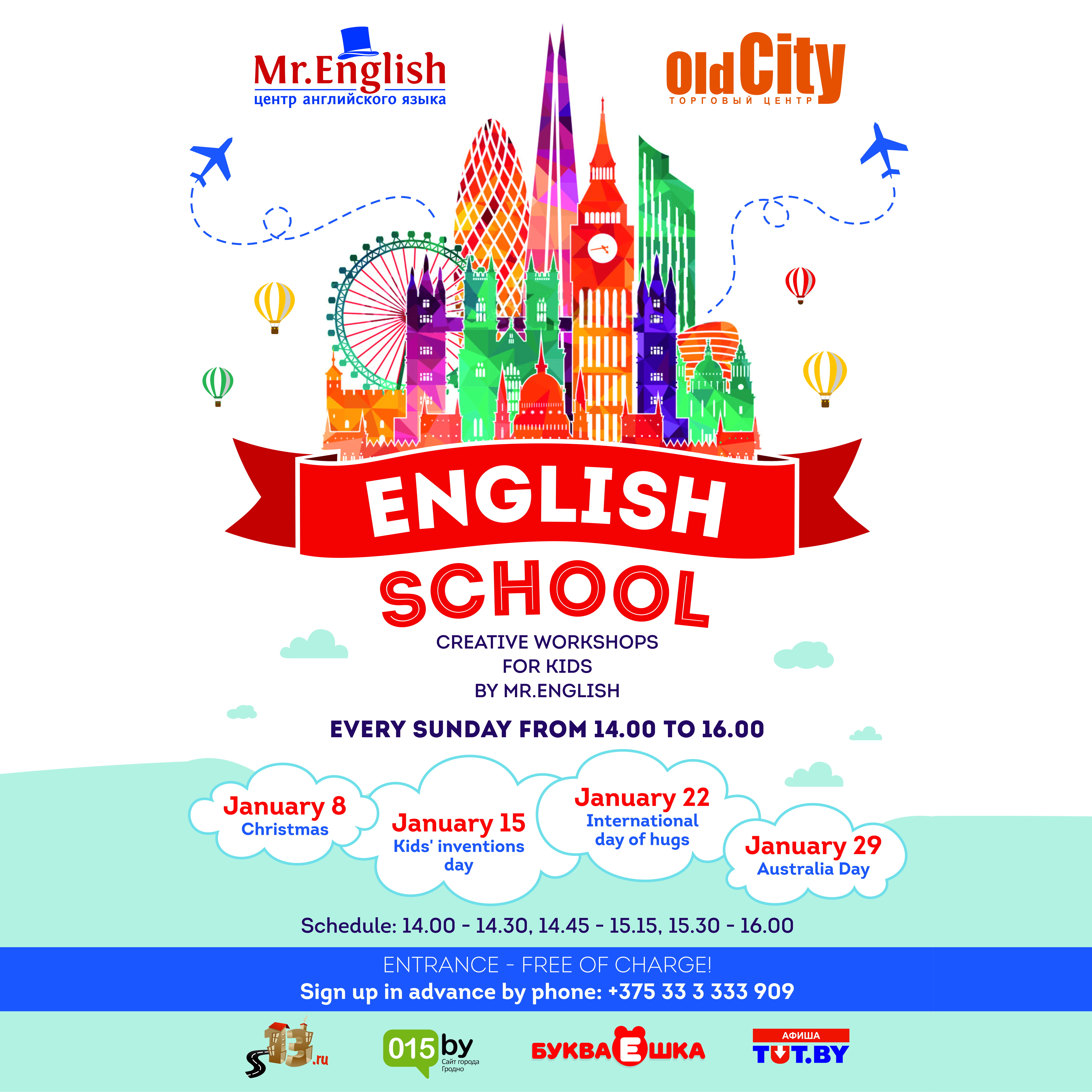 Creative workshops for kids by mr. English