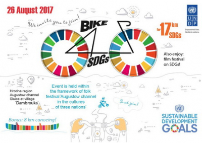 Cycling and kayaking event for support of sustainability UN ideas to be held at Awgustow Canal