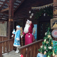 Santa and the Snow Maiden invite kids to visit their residence